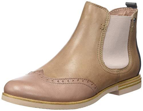 Tamaris Damen 1-1-25310-22 424 Chelsea Boots, Beige (Shell Comb 424), 41 EU
