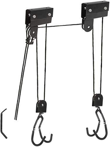 P4B | Fahrrad BIKE LIFT XXL STRONG | Zur Deckenmontage | Hebelast bis 57 kg | Leichtgängiger Seilzug mechanisch | Für E-Bikes geeignet | Inkl. 2 Haltegurte | In Schwarz