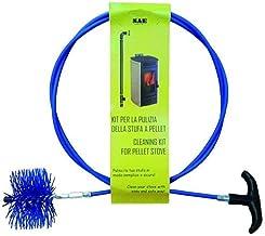 Kit Deshollinador para estufa de pellets con barra Flexi cm. 200y escobillón Nylon 80mm