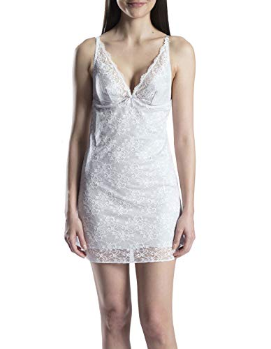 Aubade OA40 Women's Courbes Divines Reve d'Opale Grey Lace Nightdress 44