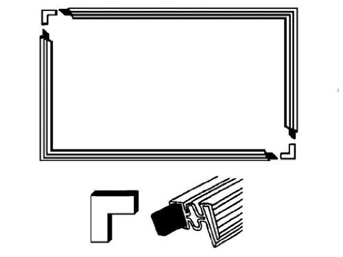 Universale porta guarnizione set 2000X 1000mm 4lati frigorifero