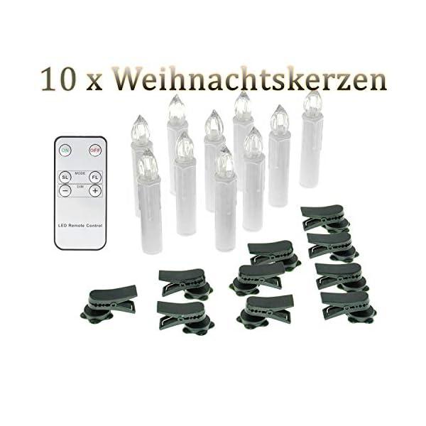 SunJas-10203040-Weihnachten-LED-Kerzen-Lichterkette-Kerzen-Weihnachtskerzen-Weihnachtsbaum-Kerzen-mit-Fernbedienung-Kabellos