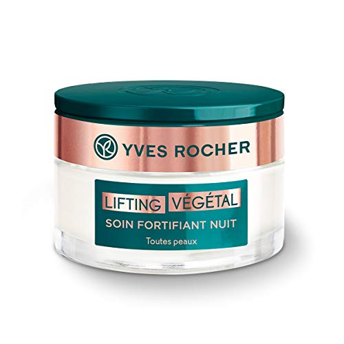 Yves Rocher Lifting Végétal Anti Aging Face and Neck Night Cream Moisturizer All skin types - Anti wrinkles and Firming Effect with Botanical Collagen, 50 ml jar