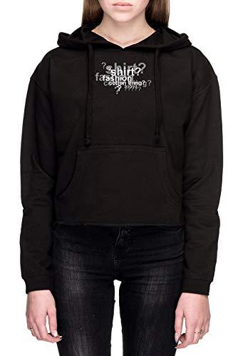 Drunklock Deduction Mujer Sudadera con Capucha De Crop Negro Tamaño M - Women's Crop Sweatshirt Hoodie Black