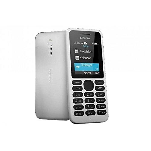 Nokia RM-1035 4,57 cm (1,8 Zoll) Handy 130 (Dual SIM, MP3 Player, microSD Kartenleser, 1020mAh Akku) weiß