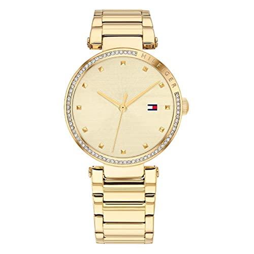 Tommy Hilfiger Damen Analoger Quarz Uhr mit Edelstahl Armband 1782235