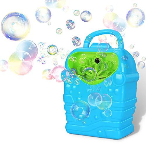 Máquina de pompas de jabón, juguete para niños, para exteriores, portátil, máquina de burbujas con jabón, líquido, para jardín, fiesta, boda, interior, gscenke para niños, niñas, bebé