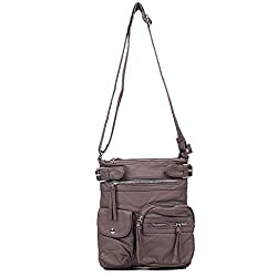 Soft Multiple Pockets Crossbody Bag Casual Travel Shoulder Bags for Mens and Women