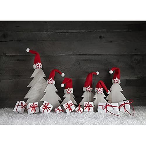 Fondo de fotografía de Tema de Navidad de Vinilo árbol de Navidad Retrato de niño fotografía Accesorios de Disparo de Estudio A36 10x10ft / 3x3m