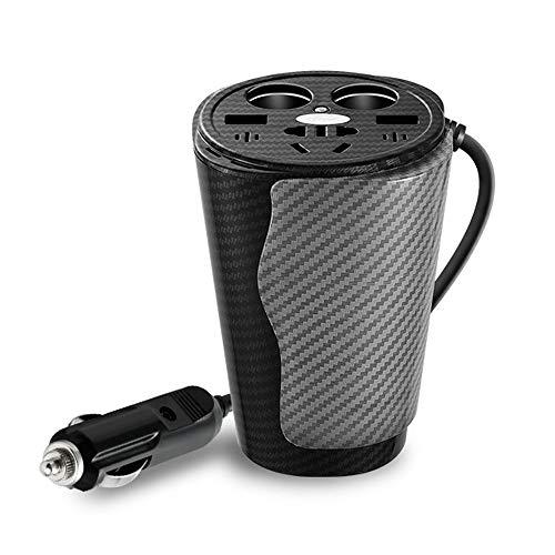 NCBH Car omvormer LED-omvormer, 12 V, AC 220 V, converter W, 2 USB, 5 V, 150 W, voor Smart Cell Phone Tablet TV, verlichting, ECC