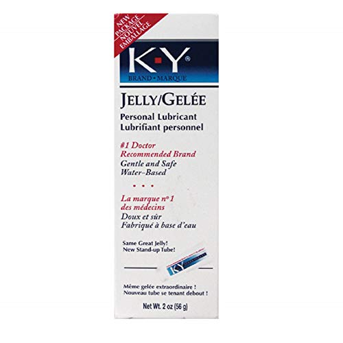 K-Y Jelly 2oz Tube Personal Water Based Lubricant with Free Bottle of Adult Toy Cleaner
