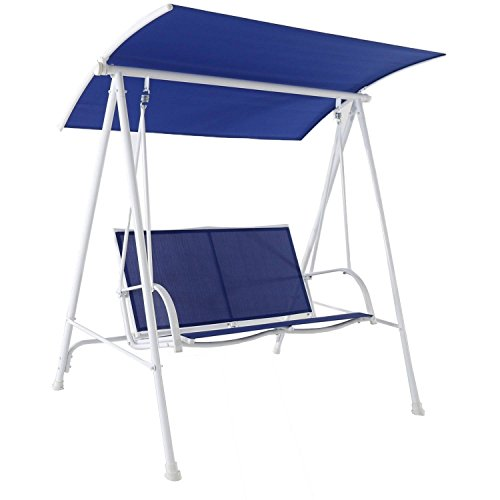 Garden Winds Replacement Canopy Top Cover for 2017 Maintstays 2-Person Swing- True Navy