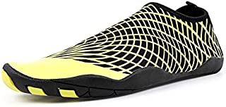LZRDZSW Men Swimming Sneakers Outdoor Sports Diving Water Shoes Seaside Beach Surfing Slippers Quick-Drying Upstream Aqua Shoes Suitable for Beach, Swimming. (Color : Yellow, Shoe Size : 45)