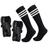 Soccer Shin Guards Pads with Socks Gear for 3,4,5 Year Old Girls Boys Kids Child Youth Toddler