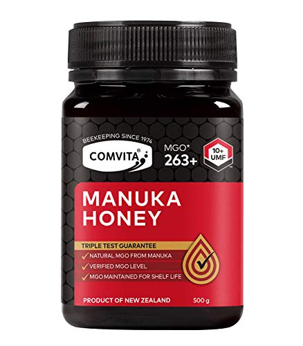 Comvita Certified UMF 10+ (MGO 263+) Raw Manuka Honey I New Zealand's #1 Manuka Brand I Authentic, Wild, Unpasteurized, Non-GMO Superfood I Premium Grade I 17.6 oz, 1.1 Pound (Pack of 1) (USA373)