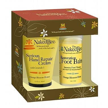 The Naked Bee Serious Restoration For Hands & Feet Gift Set, Orange Blossom Honey, by The Naked Bee