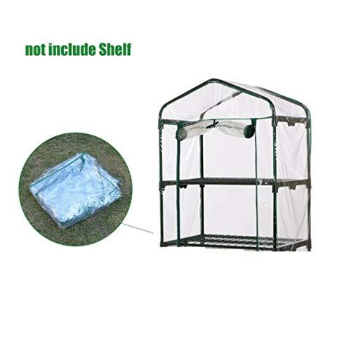 Cheekbonny Mini Gewächshaus Abdeckung Balkon Treibhaus PVC-Plane Gewächshaus transparent Folie mit Reißverschluss Wasserdicht UV-stabilisiert (ohne Eisenständer) (69x49x92 cm (Lx B x H))