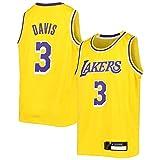 Gold Anthony Basketball Davis Jersey Los Icon Lakers Edition NO.3 Away Angeles Jersey de secado rápido Chaleco Deportes Casual Tops Niños