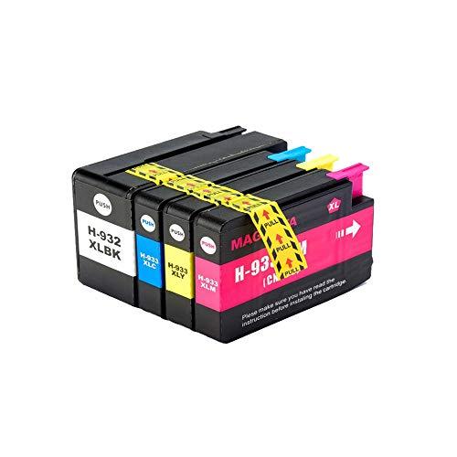 THQC 1 Juego 932XL 933 for el reemplazo HP932 933XL Cartucho de Tinta for HP Officejet 932 6100 6600 6700 7110 7610 7612 Impresora