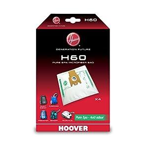 Hoover H60 H60-Hoover Bolsa para aspiradora Pure-Epa. Compatible con los Modelos Athos. Incluye 4 uds, 1.9 litros, Nailon