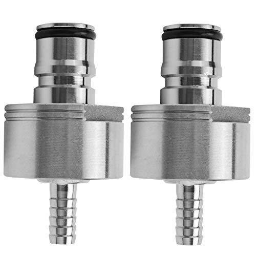 Kamenda 2 tapones de carbonato para rellenar, tapa de carbonización, conectores de...