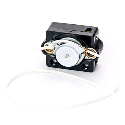 Interruptor de cordón negro serie 2A 250 VA para lámparas, lámparas, tren, interruptor, incluye cuerda.