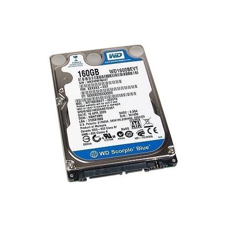 [WESTERN DIGITAL] 2.5inch HDD 160GB SATA 9.5mm厚 512セクターモデル WD1600BEVT