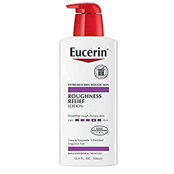 Eucerin Roughness Relief Lotion - Full Body Lotion for Extremely Dry Rough Skin - 16.9 fl oz Pump Bottle