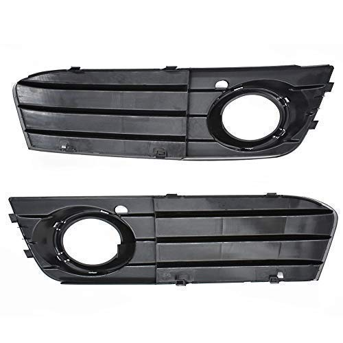 Pair Front Bumper Fog Light Grilles Grill Cover Replacement for Audi A4 B8 A4L 2009 2010 2011 2012 8KD 807 681 01C /8KD 807 682 01C