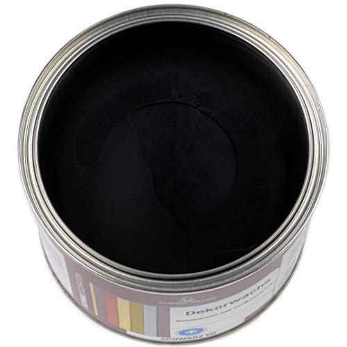 Shabby Chic Holz Wachs Dekorwachs Wachsfarbe 500ml (Schwarz 60)