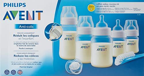 Philips Avent SCD806/03 - Set de recién nacido gama Anti-colic, 5 biberones