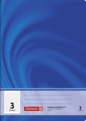 Brunnen 104470302 Schulheft A4 Vivendi (16 Blatt, liniert, Lineatur 3, Klasse 3)