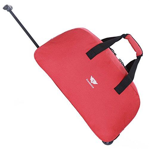 Slimbridge Castletown bagaglio a mano borsa da viaggio con ruote, Rosso