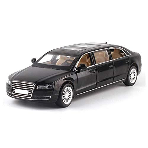 Scala 1:32 in pressofusione Model Car/Compatibile con Audi A8 estesa Versione/Metal Simulation Model Car Pieno Aperto Auto con Il Suono e la Funzione della Luce Modello