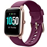 YAMAY Smart Watch Fitness Tracker Watches for Men Women, Fitness Watch Heart Rate Monitor IP68 Waterproof with Step Calories Sleep Tracker, Smartwatch Compatible iPhone Android Phones (Dark Purple)
