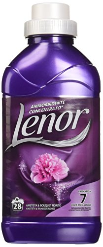 Lenor - Ammorbidente Concentrato, Profumo Ametista e Bouquet Fiorito - 4 flaconi da 711 ml [112 lavaggi, 2844 ml]