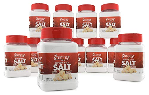 Best Deals! Snappy White Popcorn Salt, 18 oz, 12 Count