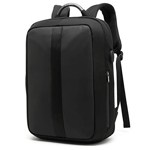 UTOTEBAG Mochila de portatil, Mochila antirrobo Impermeable,Bolsa de Negocios de 15.6 Pulgadas,Mochila de Viaje de Ocio Multiusos Daypacks con Puerto de Carga USB(Negro)