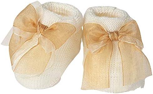 Ivory Baberos para bebé, fabricados en Italia, 0-3 meses, fantasía femenina Marfil/Oro 42092 0-3 meses