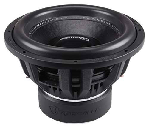 "Rockville Destroyer 15D2 15"" Competition Car Audio Subwoofer w/USA Voice Coils!"