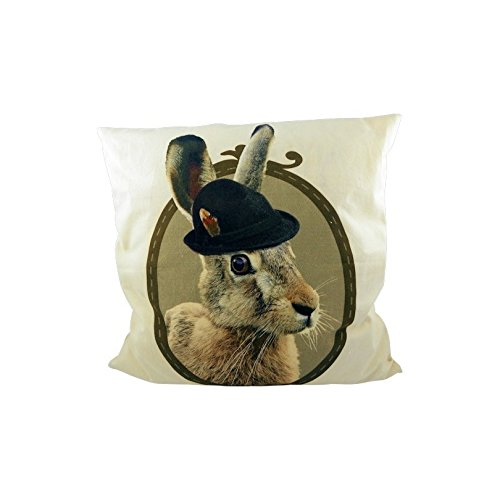 cushion canvas alm hare