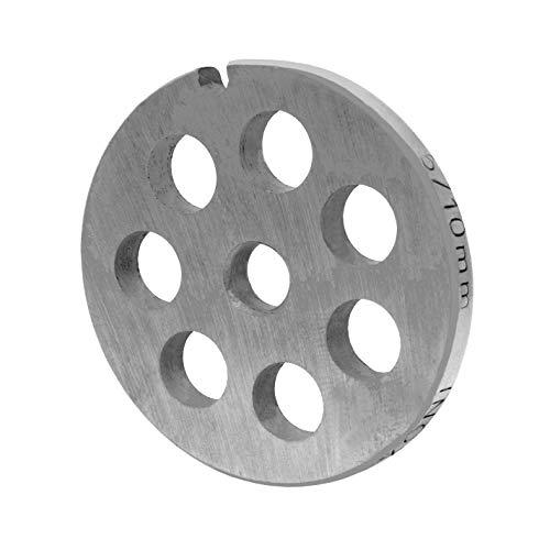 WolfCut INOX Lochscheibe Gr.5-10,0 mm Bohrungen – passend für alle gängigen Fleischwölfe Größe 5 – z.B.: Bosch MUM4/MUM5 - Alexanderwerk Größe 5 – Jupiter Größe 5 und viele mehr.
