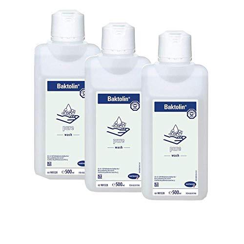Baktolin pure Waschlotion | Handwaschseife | 3 x 500 ml Flasche