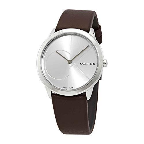 Calvin Klein Reloj Analógico para Mujer de Cuarzo con Correa en Cuero K3M221G6