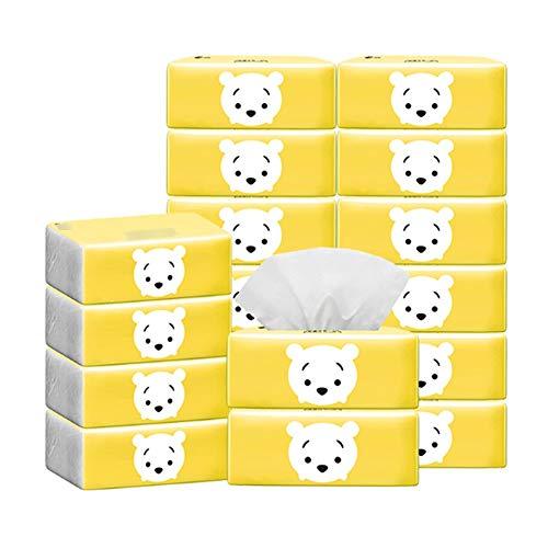Aiyu 90 papieren zakken met 100 papieren doekjes, koffer gevuld met servetten, papieren handdoeken, baby Face zijdepapier, geschikt voor gebruik op kantoor of voor een familie in noodgevallen USA