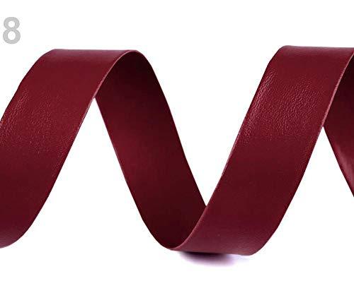 10m 8 (18) Bordeaux Hell Schrägband Kunstleder Breite 20mm, Schrägbänder Aus Und Velours, Kurzwaren