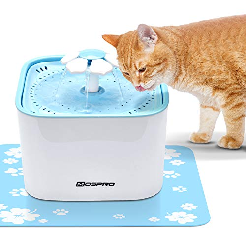 Pet Fountain Cat Water Dispenser - Healthy and Hygienic Drinking Fountain Super Quiet Flower...