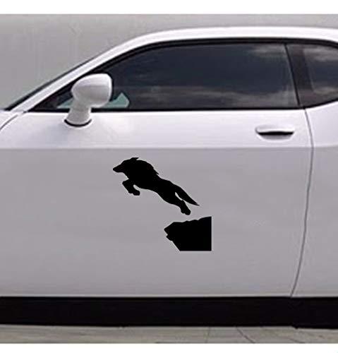 Auto Racing Aufkleber Wolf Jumping Decal Pattern Decor Zubehör Autoscooter Aufkleber für Auto Laptop Fenster Aufkleber
