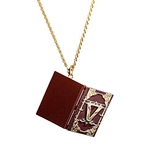 DMC 5 V Poetry Notebook Necklace Pendant Copper Open Enable Jewelry Devil May Cry 5 Halloween Cosplay Accessories