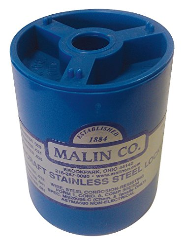 Malin - MS20995C Stainless Steel Safety Wire \ Lockwire, Canister, 0.025 Dia, 596 ft. by Malin Company
